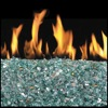 "18"" Azuria Reflective Vented Fyre Glass / G45 Triple T Glass Burner - Peterson Real Fyre"