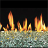 "18"" Emerald Reflective Vented Fyre Glass / G45 Triple T Glass Burner - Peterson Real Fyre"