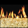 "42"" Gold Reflective Vented Fyre Glass / G45 Stainless Steel Triple T Glass Burner - Peterson Real Fyre"