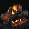 "16"" Golden Oak Vented Log Set / G4 Ember Bed See-Thru Burner - Peterson Real Fyre"
