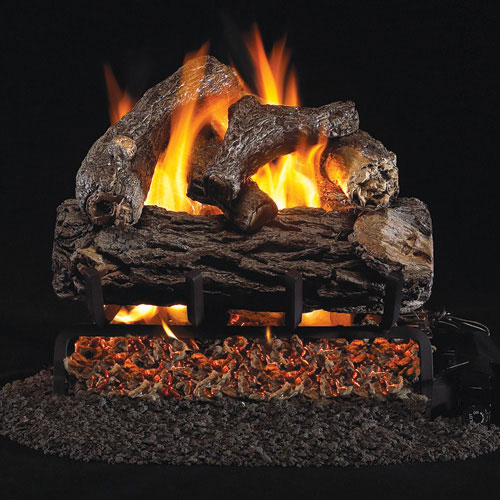 "12"" Golden Oak Designer Plus Vented Log Set / G4 Ember Burner - Peterson Real Fyre"