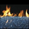 "48"" Sapphire Vented Fyre Glass / G45 Stainless Steel Triple T Glass Burner - Peterson Real Fyre"