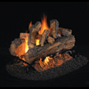"20"" Split Oak Designer Plus Vented Log Set / G45 Stainless Steel See-Thru Triple T Burner - Peterson Real Fyre"