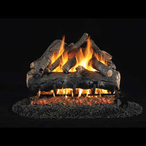 "18"" American Oak Vented Log Set / G46 ANSI Certified Burner - Peterson Real Fyre"