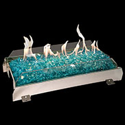 Peterson Vent Free G21 Stainess Steel See-Thru Glass Burner Sets