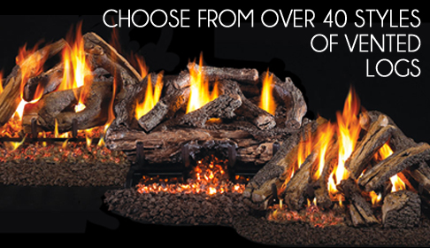 Peterson Fire Logs specializes in vented and vent free gas logs from Peterson Real Fyre.