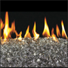 "18"" Bronze Vented Fyre Glass / G45 Stainless Steel Triple T Glass Burner - Peterson Real Fyre"