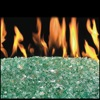 "36"" Emerald Vented Fyre Glass / G45 Triple T Glass Burner - Peterson Real Fyre"